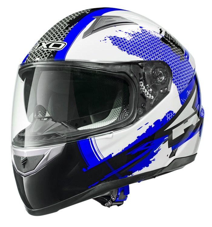 AXO Edge full face helmet Black White Blue