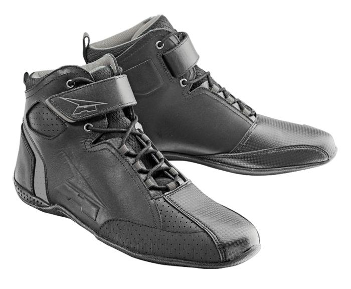 AXO Asphalt leather shoes Black Grey