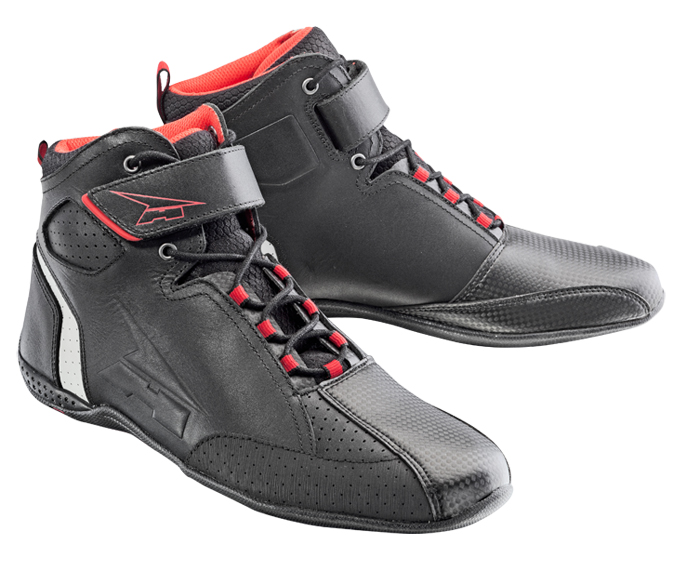 AXO Asphalt leather shoes Black Red