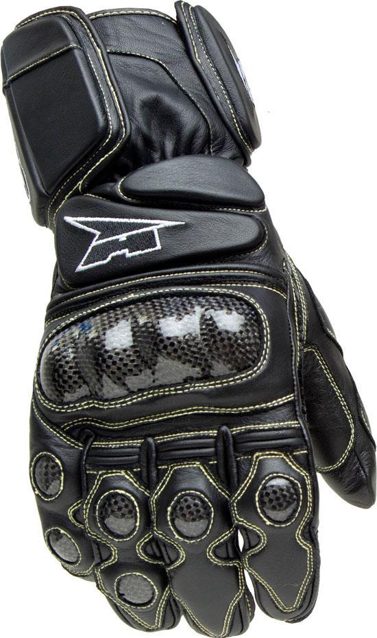 Motorbike Leather Gloves AXO KK4R HT Black