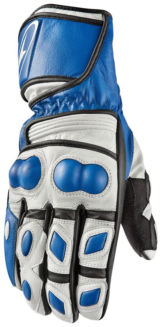 Guanti moto in pelle AXO KR11 Bianco Blu