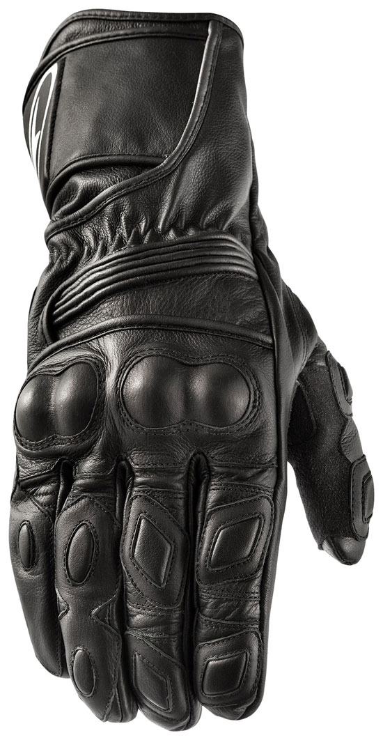 Motorbike Leather Gloves AXO KR11 Black