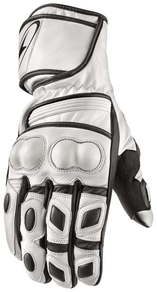 Motorbike Leather Gloves AXO KR11 White