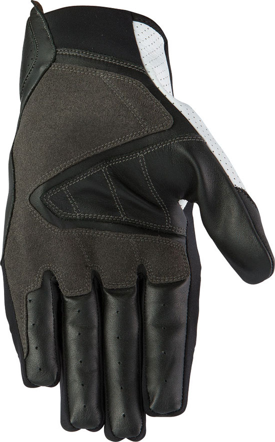 Summer Leather Motorcycle Gloves AXO Pro Race XT Black White