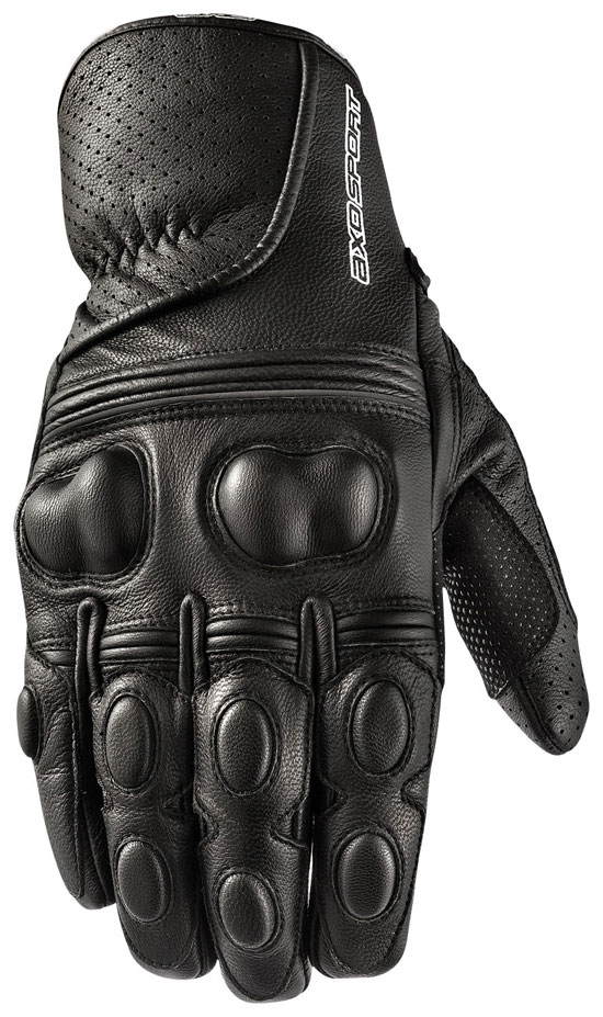 Motorbike Leather Gloves AXO Black Snake