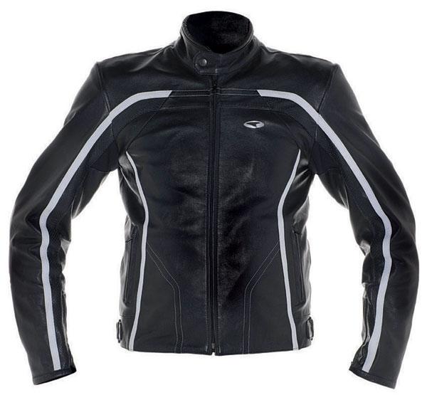 Motorcycle Leather Jacket AXO BlackJack Black