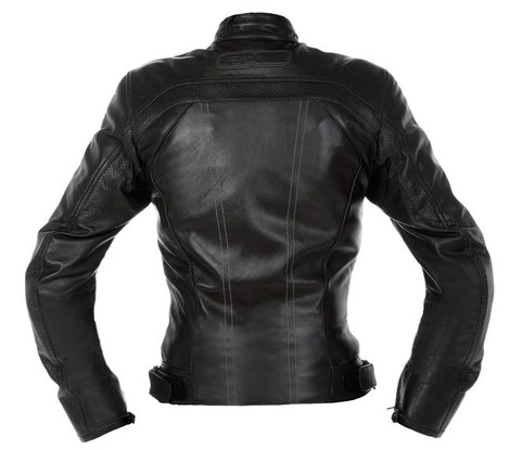 Ladies leather motorcycle jacket AXO BlackJack Black Lady