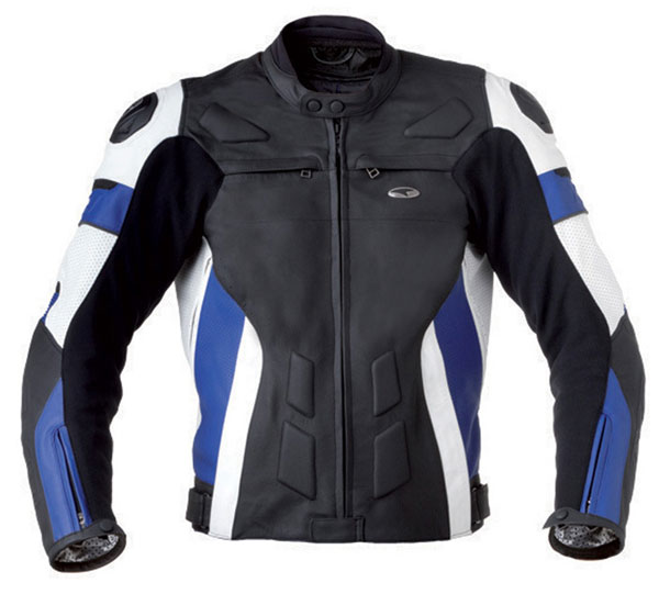 Motorcycle Leather Jacket AXO XRV Black Blue