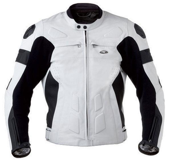 Motorcycle Leather Jacket AXO XRV White Black