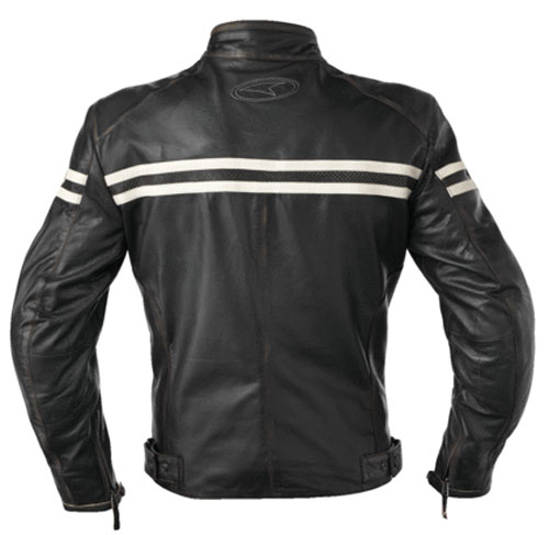 Motorcycle Leather Jacket AXO Black Gasoline