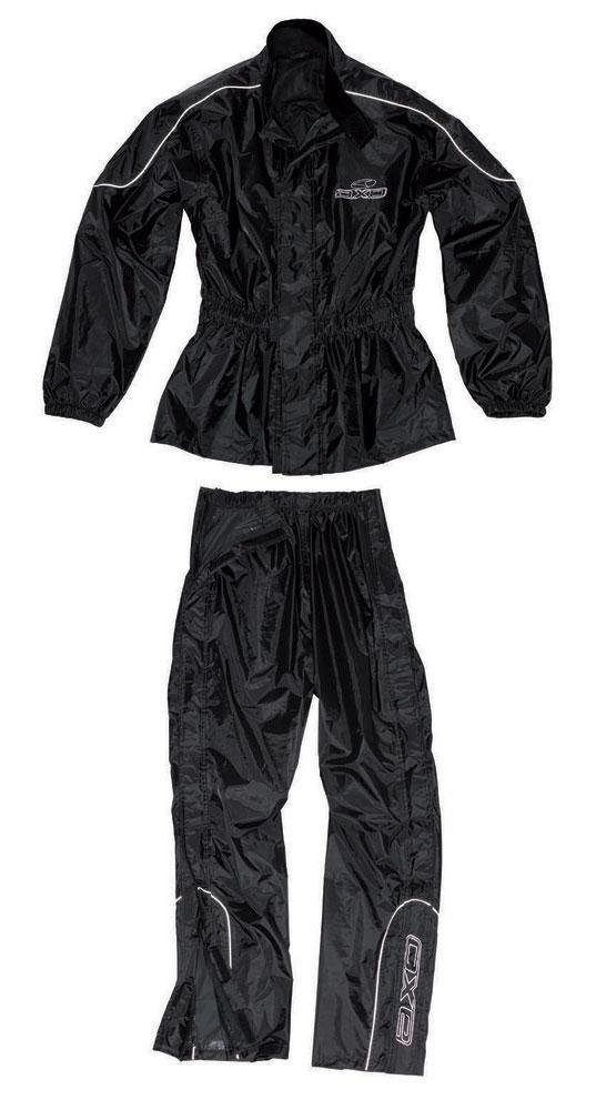Rain suit divisible AXO Oxford Black Set