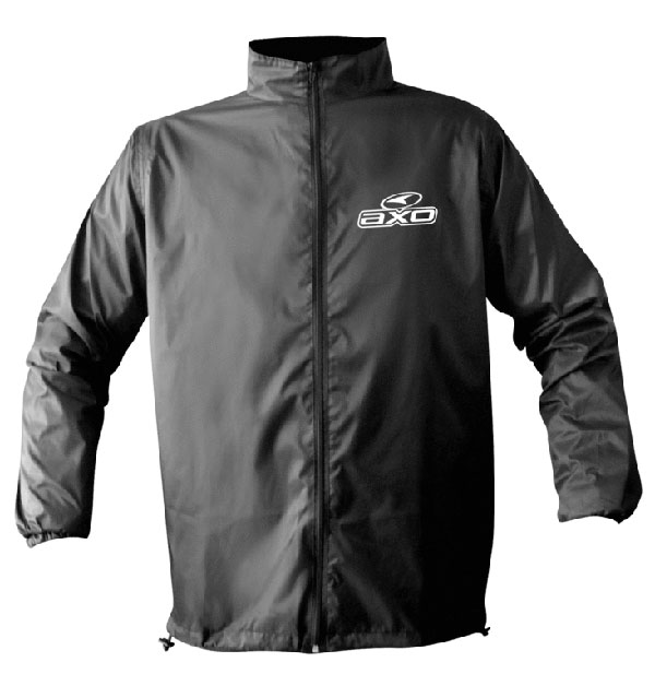 Rain Jacket AXO Black Salmon