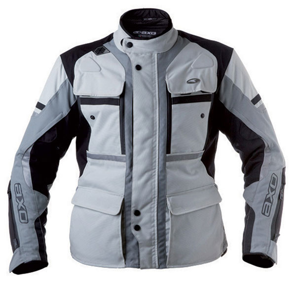 AXO motorcycle jacket waterproof Cayman Grey