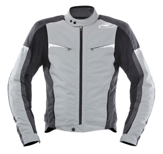 Waterproof motorcycle jacket AXO Striker Grey Black