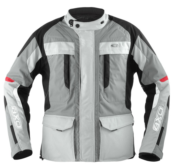 Giacca moto donna impermeabile AXO Voyager Lady Grigio