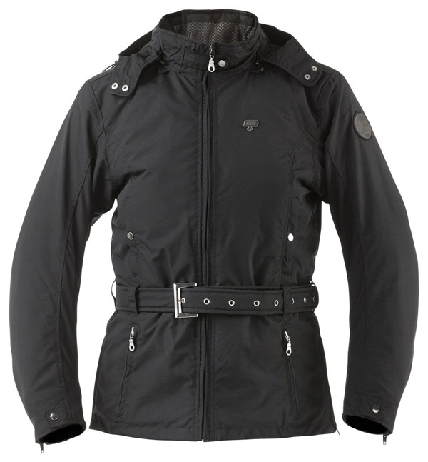 Waterproof motorcycle jacket women AXO Madison Lady Black
