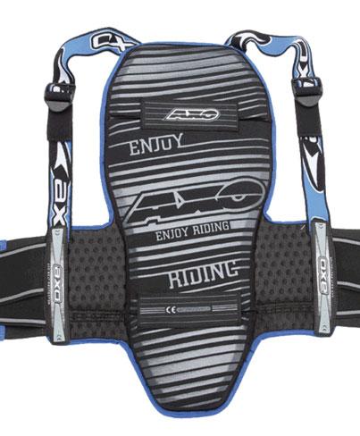 Paraschiena pieghevole AXO Threelogy Nero Blu