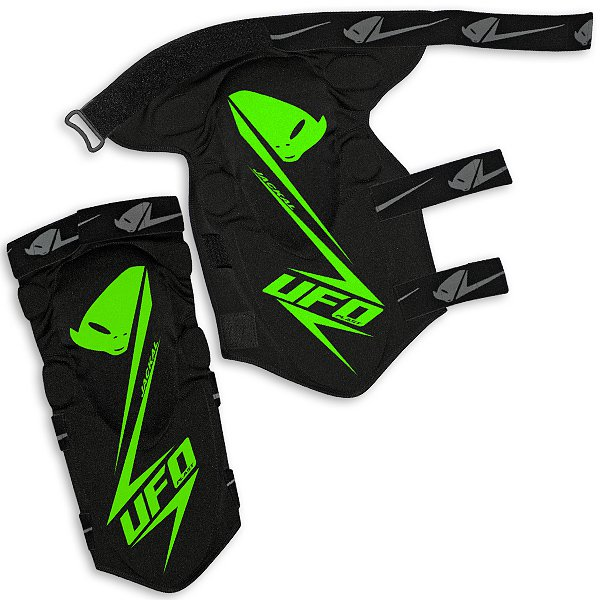 Ufo Plast Jackal knee-shin guard Black Green