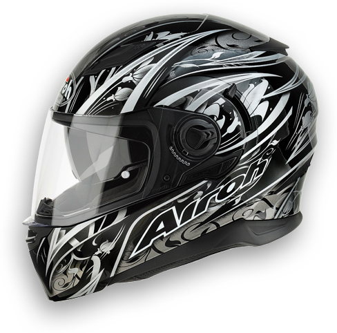 Motorcycle Helmet Airoh Movement Black Flowers