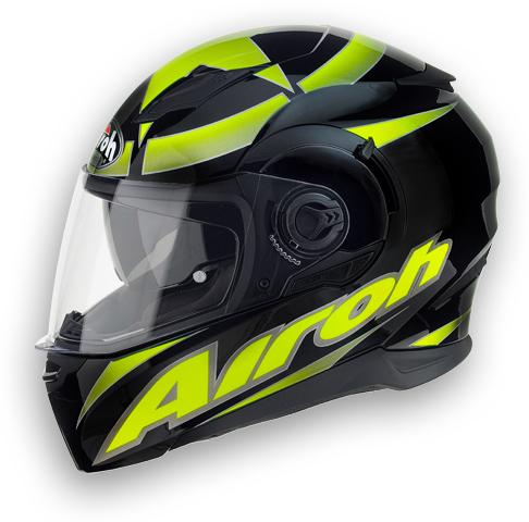 Motorcycle Helmet Airoh Movement Shot shiny yellow