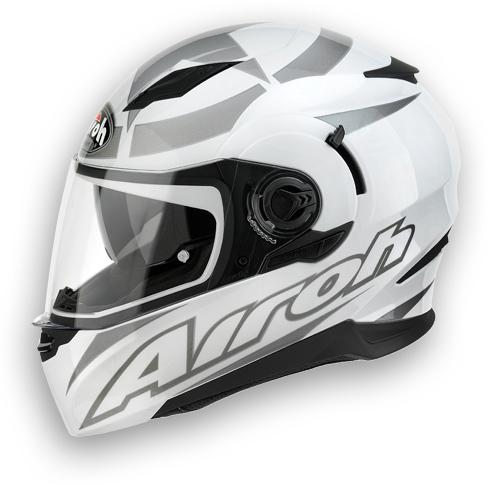 Motorcycle Helmet Airoh Movement Shot glossy white