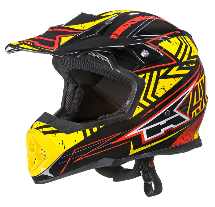 AXO Tribe cross helmet Red Yellow