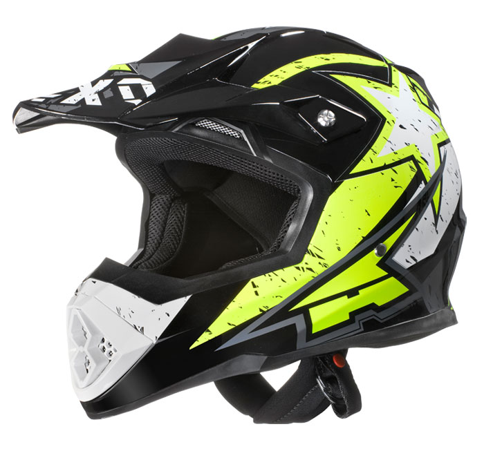 AXO Tribe cross helmet Yellow Black White
