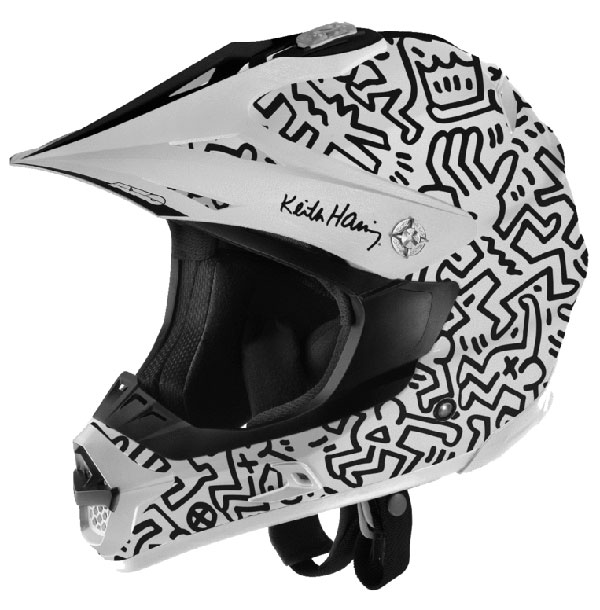 Cross helmet AXO Keith Haring Jump White