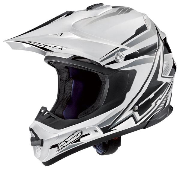 Cross helmet AXO Jump SX10 White Grey