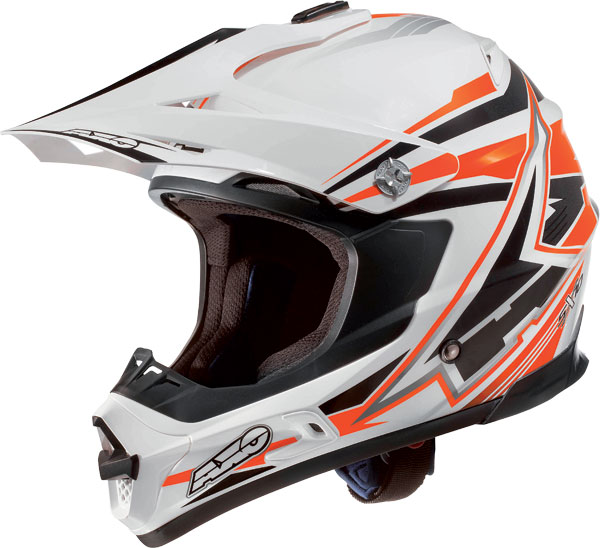 Cross helmet AXO Jump SX10 White Orange