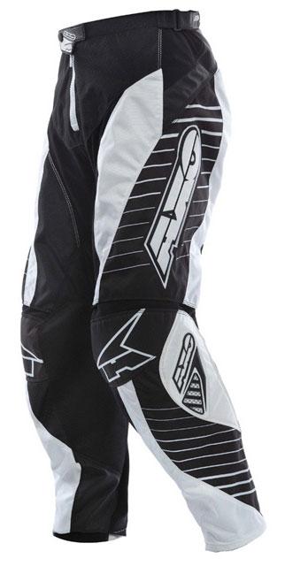 Pantaloni cross AXO Rail Bianco nero