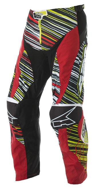 Pantaloni cross AXO Lightning Rosso Verde