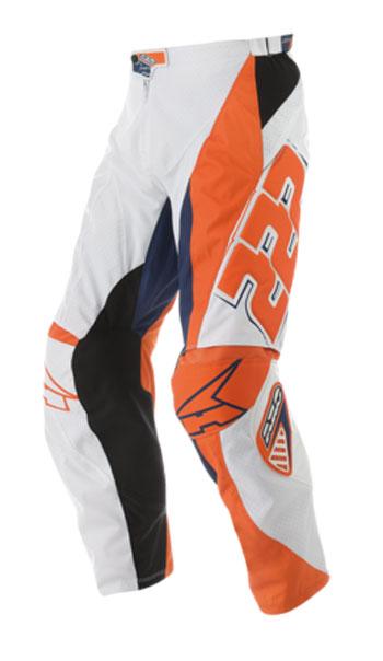 Pantaloni cross AXO TC222 Pant Bianco Arancio