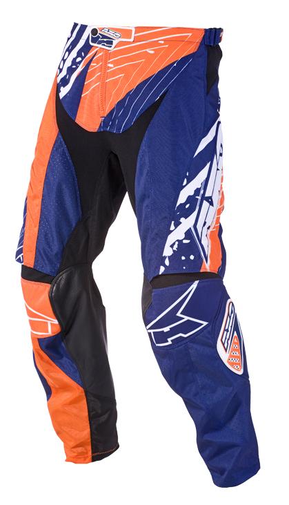 Pantaloni cross AXO Grunge Arancio Blu
