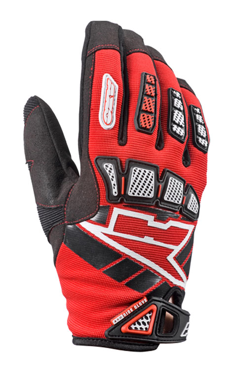 AXO Whip Jr kid cross gloves Red
