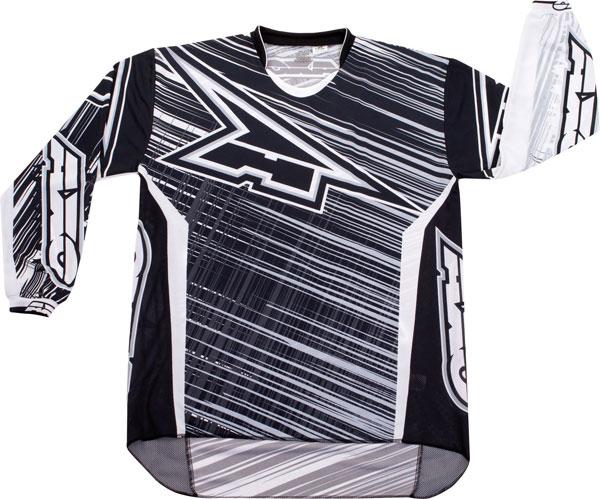 Maglia cross AXO Lightning Nero Bianco