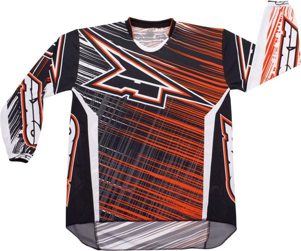 Jersey cross AXO Lightning Black Orange
