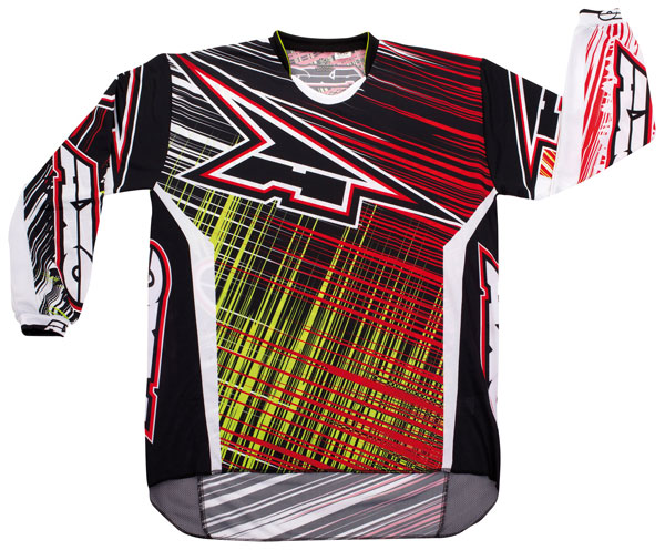 Jersey cross AXO Lightning Red Green
