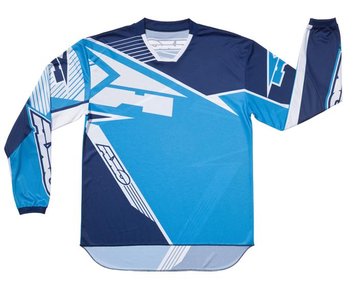 Maglia cross AXO SR Blu Azzurro