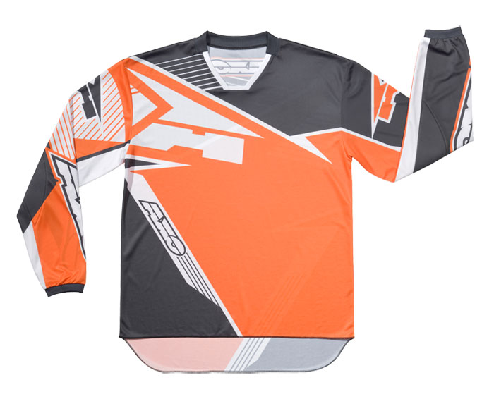 AXO SR Jr kid cross shirt Grey Orange