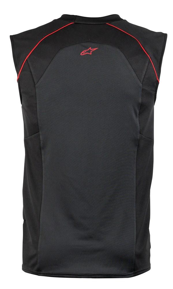 Maglia termica senza maniche Alpinestars MX Cooling nero-rossa