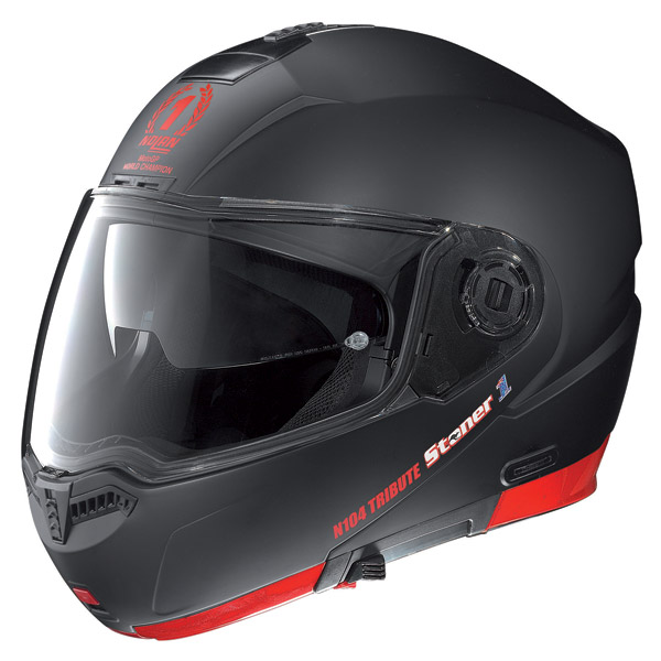 Casco moto Nolan N104 Stoner N-Com flat black