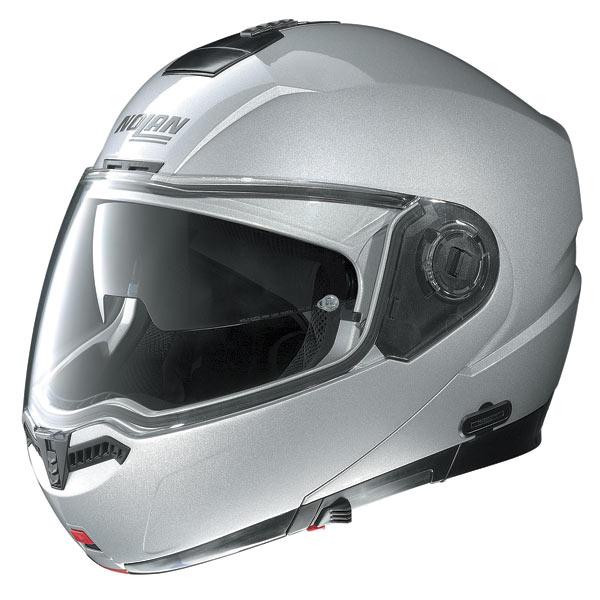 Nolan N104 Classic N-Com open-face helmet platinum silver