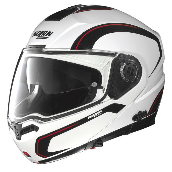 Nolan N104 Action N-Com open-face helmet white-black-red