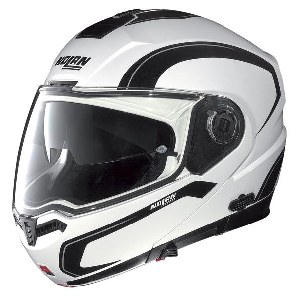 Casco moto Nolan N104 Action N-Com bianco-nero-bianco