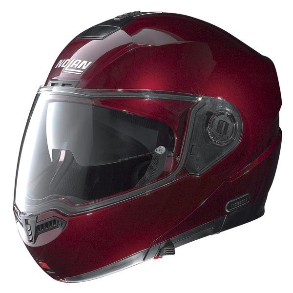 Casco moto Nolan N104 Classic N-Com wine-cherry