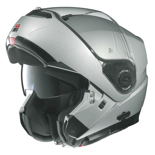 Casco moto Nolan N104 Action N-Com bianco-nero-rosso
