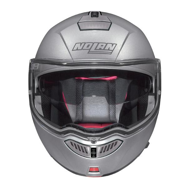 Helmet flip-up Nolan N104 Evo N-Com Action  white-black-white