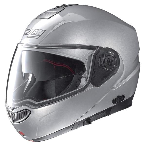 Helmet flip-up  Nolan N104 Evo Classic N-Com platinum silver