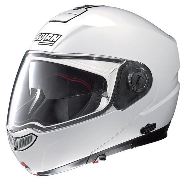 Casco moto modulare Nolan N104 Evo Classic N-Com bianco
